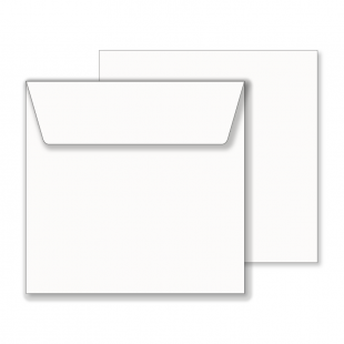 Essentials White Wallet Square Envelope- 170mm x 170mm