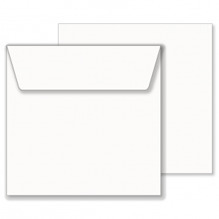 Essentials White Wallet Square Envelope- 205mm x 205mm