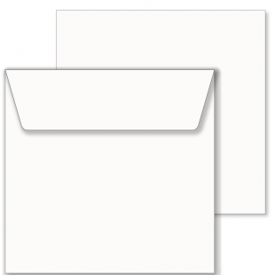 Essentials White Square Envelopes- 220mm x 220mm