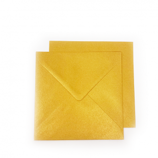Square Pearlised Royal Gold (Tenne) Envelopes (155mm x 155mm)