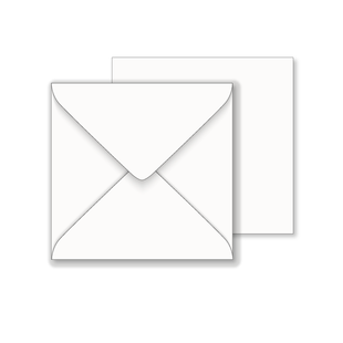 Essentials White Square Envelope- 155mm x 155mm
