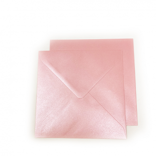 Square Pearlised Persian Pink Envelopes (155mm x 155mm)