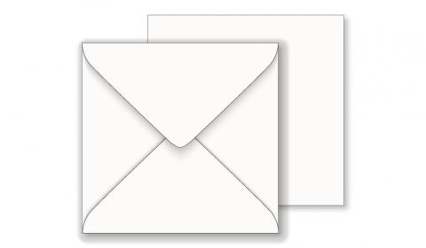 Essentials White Square Envelope 100gsm - 130mm x 130mm