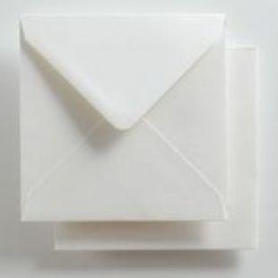 Luxury Square Envelopes - Pearlised Ultra White