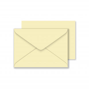 C6 Cream Envelopes 100gsm (162mm x 114mm)