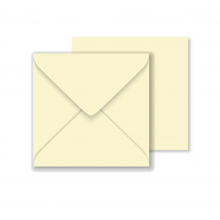Square Vanilla Envelopes 130gsm (155mm x 155mm)