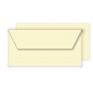 DL Vanilla Envelopes 130gsm (110mm x 220mm)