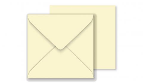 1,000 Wholesale Square Vanilla Envelopes 100gsm (130mm x 130mm)