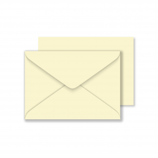 C6 Vanilla Envelopes 100gsm (114mm x 162mm)
