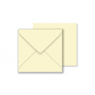 Square Vanilla Envelopes 130gsm (130mm x 130mm)