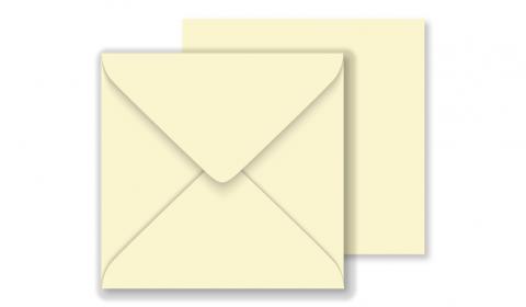 Square Vanilla Envelopes 130gsm (130mm x 130mm)