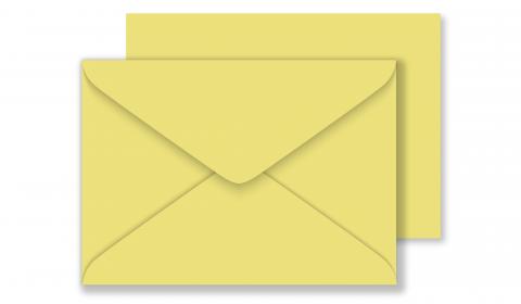 C6 Woodstock Giallo Envelopes 110gsm (114mm x 162mm)