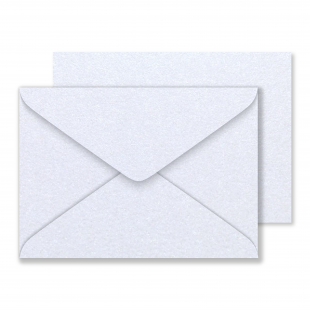 Luxury C5 Snow White Pearlised Envelopes 120gsm
