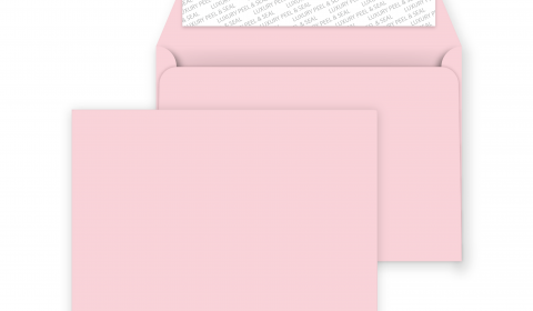 C6 Peel and Seal Envelopes - Baby Pink