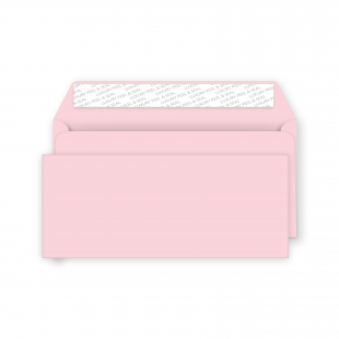 DL Peel and Seal Envelope - Baby Pink