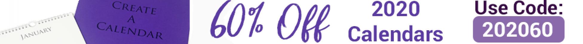 60 Off 2020 Calendar Web Banner