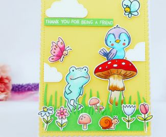 A bright And Colourful Spring Friend Card