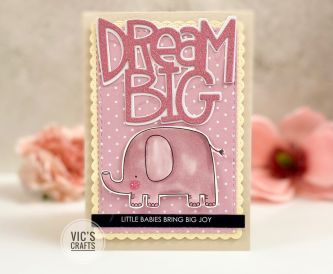 Dream Big Baby Card
