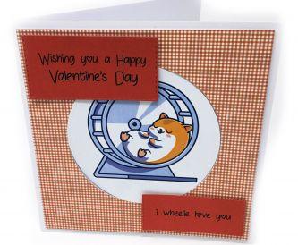Valentine's Hamster Card