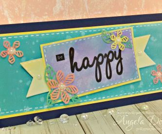 Be Happy Card - Step By Step