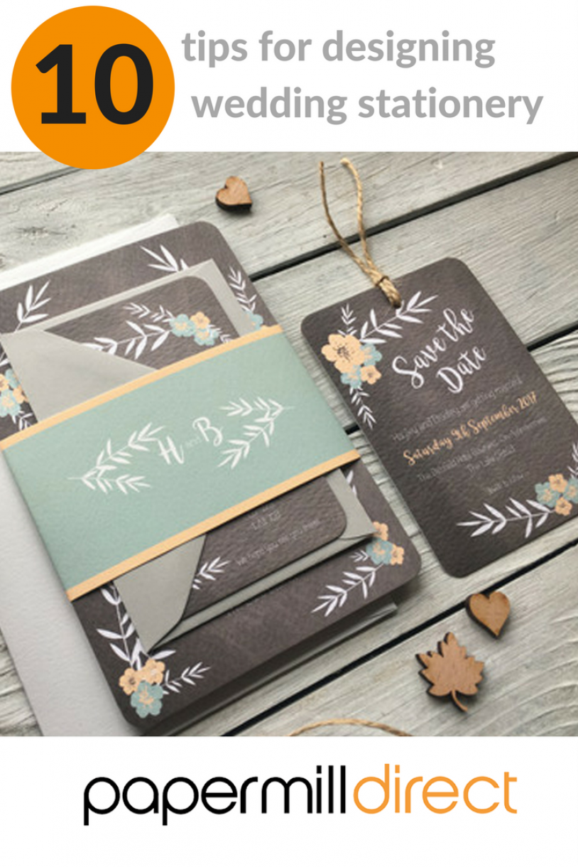10 Tips For Designing Wedding Stationery