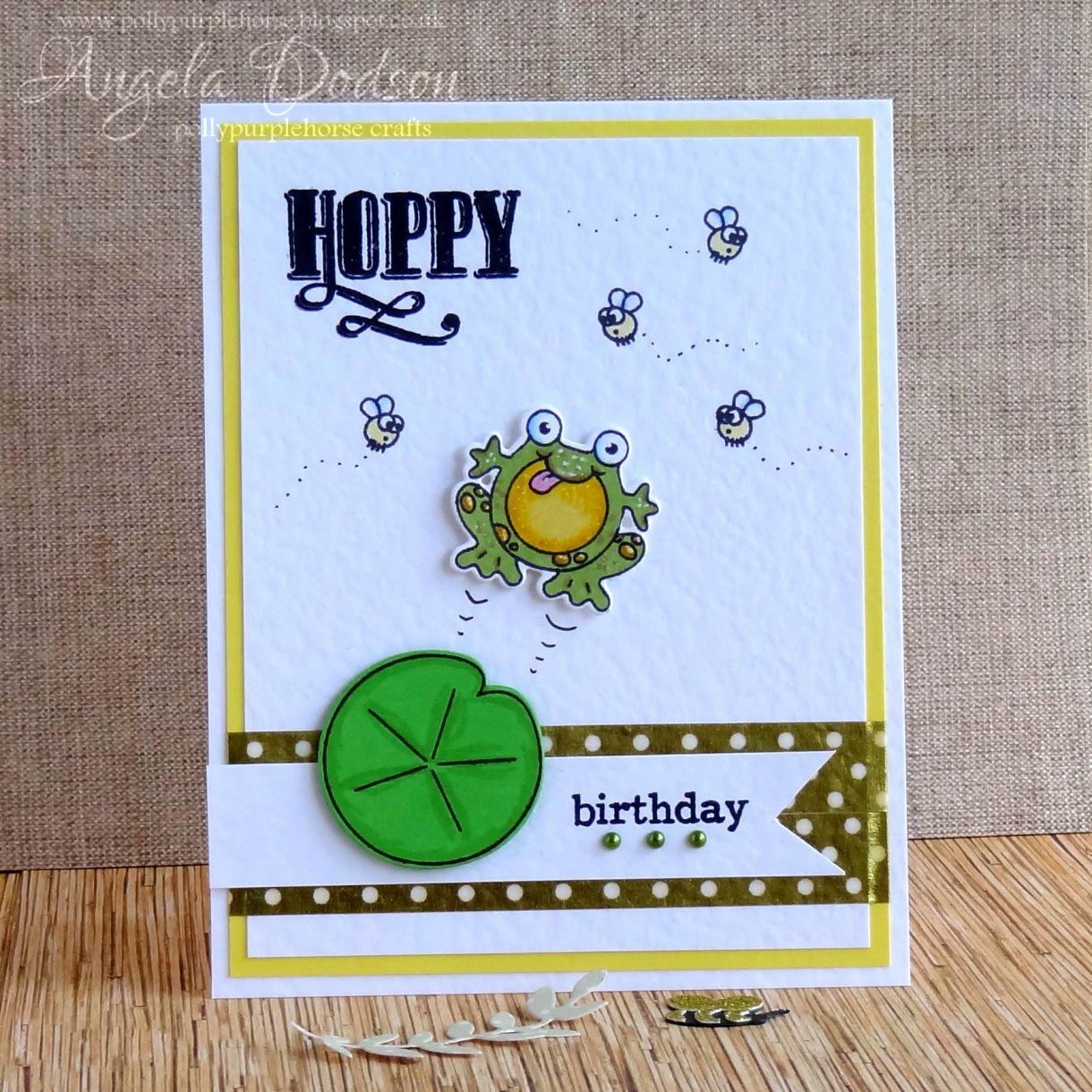 Hoppy birthday card step by step tutorial bookmarktalkfo Images