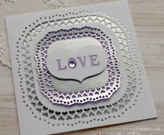 LOVE Anniversary card with Silver Sandgrain - Step by Step Tutorial
