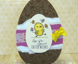 Chocolate Egg Shaped Easter Card Idea - Step By Step Tutorial