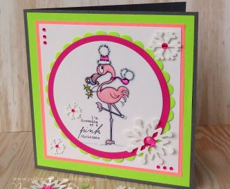 Dreaming of a Pink Christmas - Step by Step Tutorial with neon card