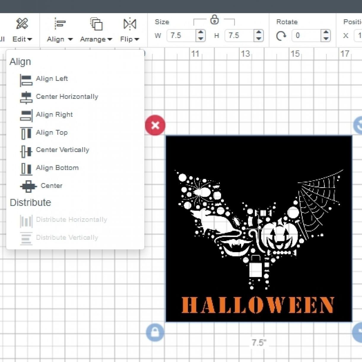 2 Align Screenshot 2017 10 15 Cricut Design Space 1 Align