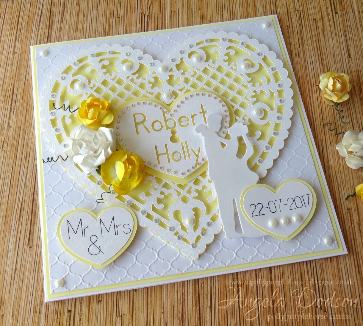 A Papercut Heart Wedding Card