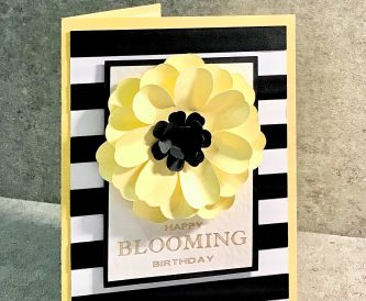 Yellow Summery Flower Birthday Card