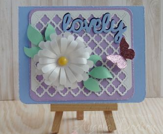 'Lovely' Floral Card – Step By Step Tutorial