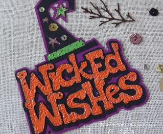 Wicked Wishes Halloween Card