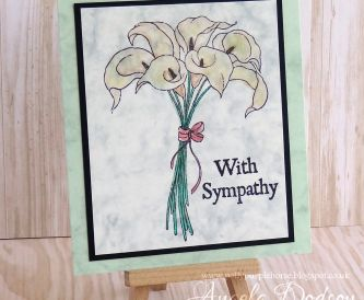 Sympathy Card with Marble Cardstocks