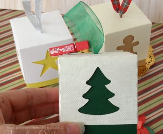 Christmas Gift Boxes with Hemp and Hopsack - Step by Step Tutorial