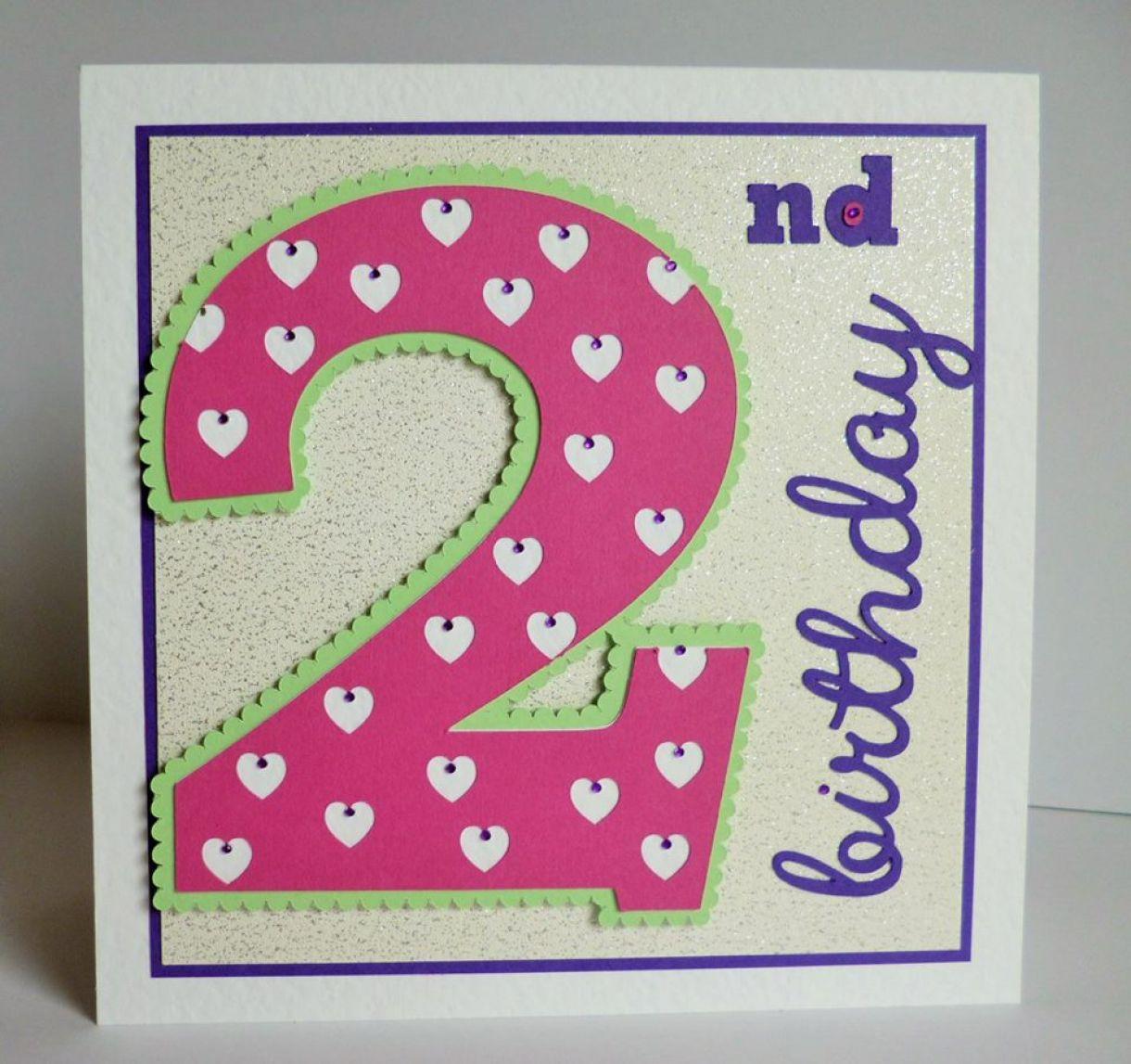 2Nd Birthday Idea Age Card 1