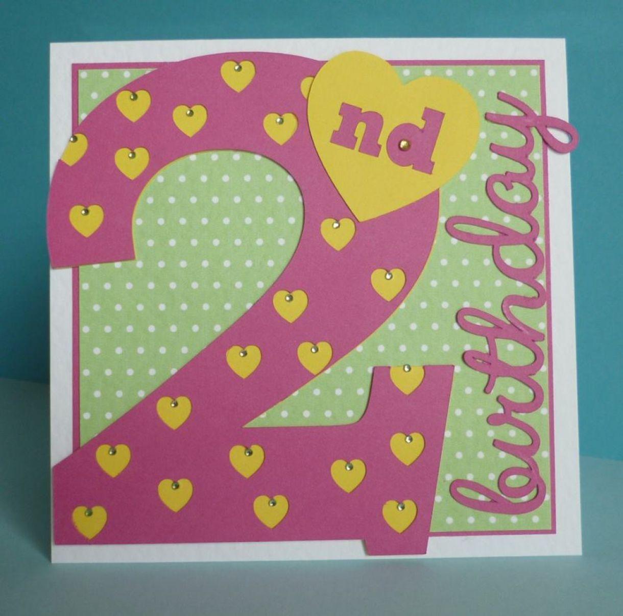 2Nd Birthday Idea Age Card