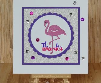 Card Making Tutorial - Make this fun thank you card yourself!