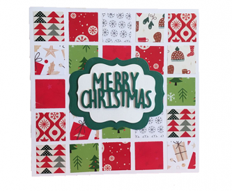 Square Merry Christmas card
