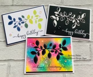Three Cards from ONE Die-Cut.