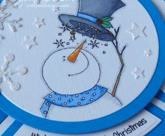 Wishing you a Sparkly Christmas – Circle Shaped Card Design