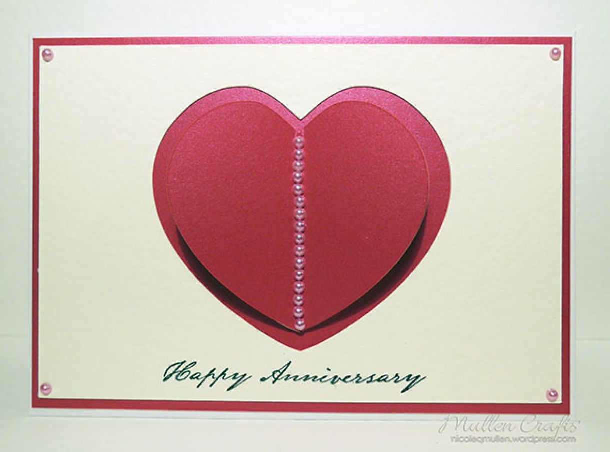 3D Heart Card Front View