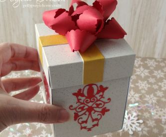 Christmas Gift Box with Sparkle Print Card
