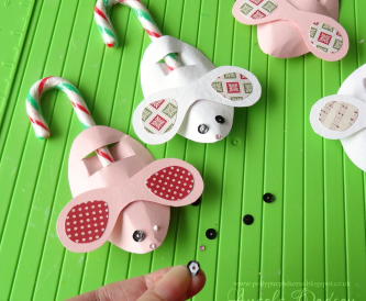 Candy Cane Mice - A simple idea for Children's Christmas Crafting