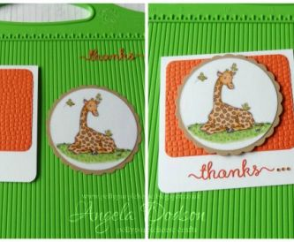 Giraffe Thank You Card using Digi Images - Step by Step Tutorial