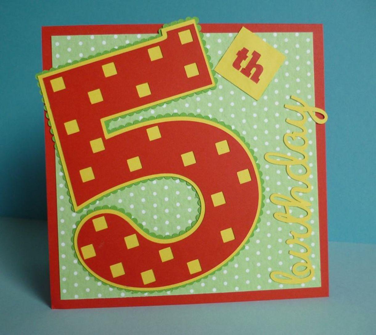 5Th Birthday Idea Age Card 1