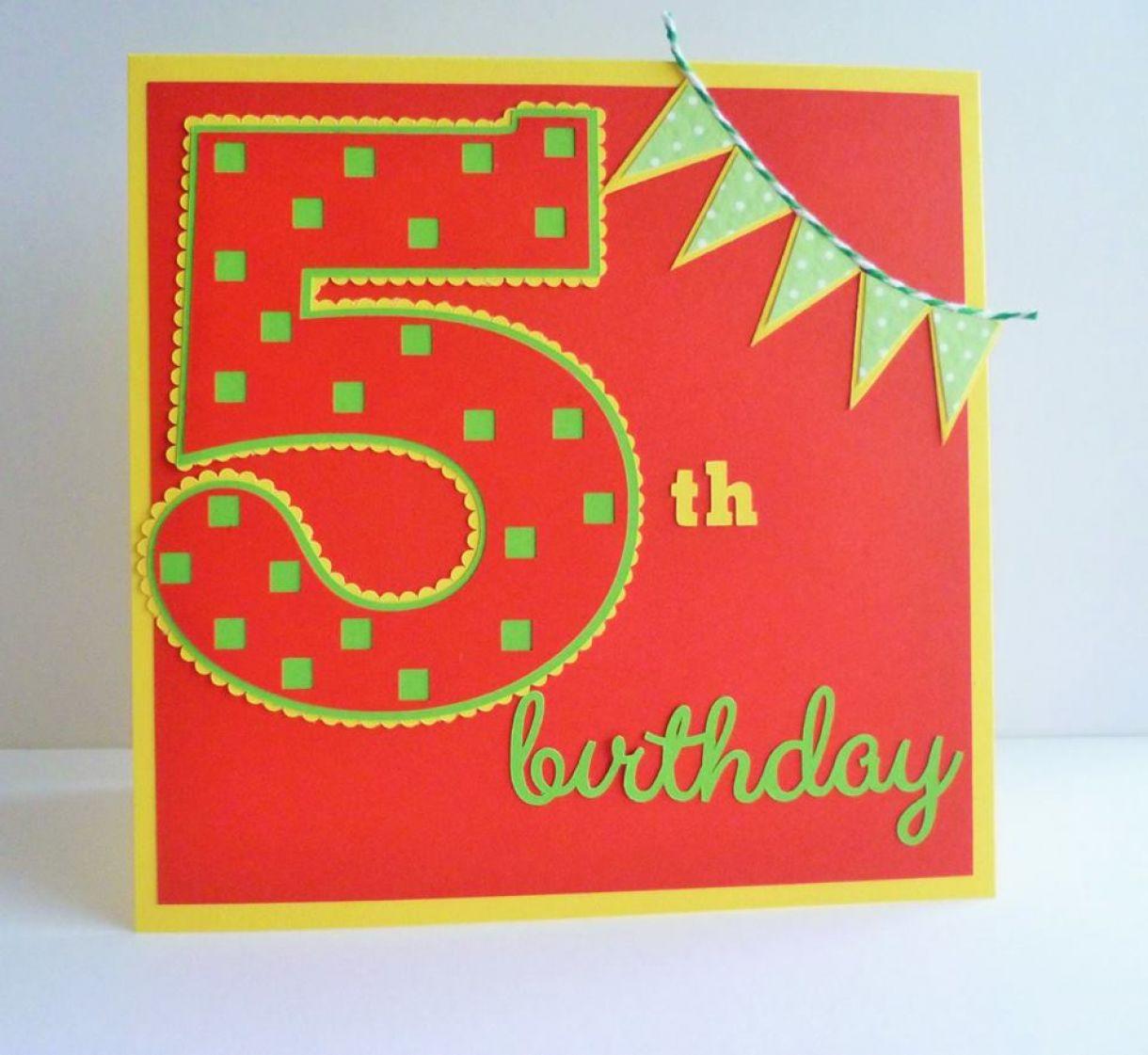 5Th Birthday Idea Age Card