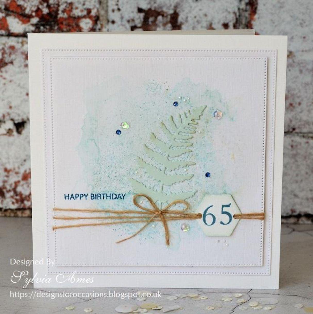65Th Birthday Card Aquamarine 2