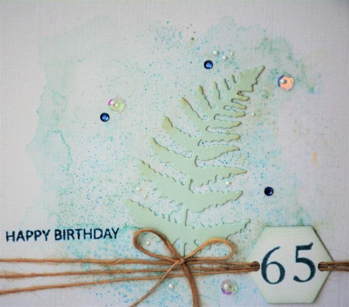 65Th Birthday Card Aquamarine 4